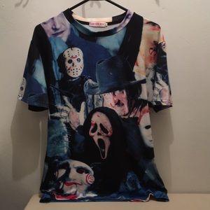 Men's scary shirt